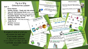 Reading Street Interactive Lessons (4 days) Pig in a Wig -