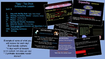 Reading Street Interactive Lessons (4 days) Tippy-Toe Chic