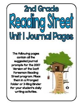 Reading Street Journal Writing Prompts - Unit 1