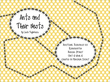 "Reading Street Kindergarten ""Ants and Their Nests"" Resources"