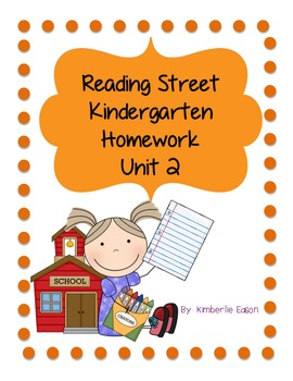 Reading Street Kindergarten Homework Unit 2