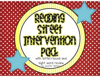 Reading Street Kindergarten Intervention (letters, sounds