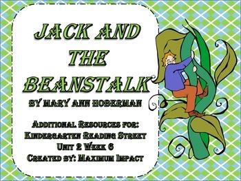 "Reading Street Kindergarten ""Jack and the Beanstalk"" Resources"