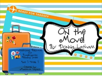 """Reading Street Kindergarten """"On the Move!"""" Resources"""