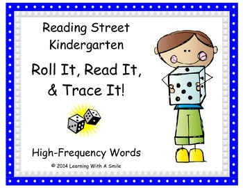 Reading Street KINDERGARTEN High Frequency Game - Roll It,