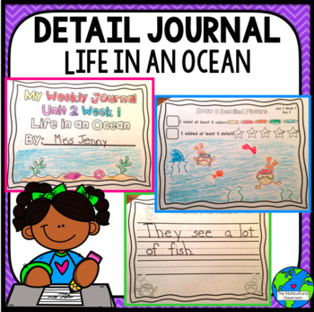 RS SideKick Kindergarten Unit 2 Ocean Life correlating journal