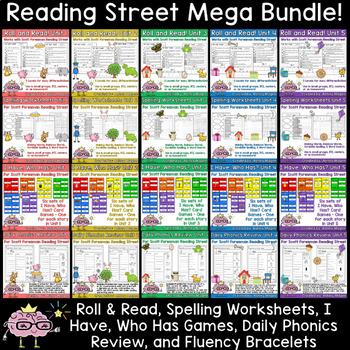 Reading Street Mega Bundle - Spelling, Fluency, I Have Who