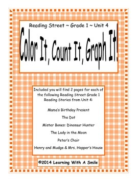 Reading Street FIRST GRADE SPELLING Unit 4: Color It, Coun