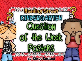 Reading Street Question of the Week Posters - Kindergarten