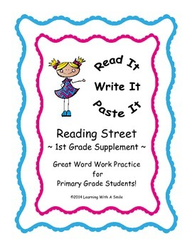 Reading Street FIRST GRADE SPELLING Units 1-5: Read It, Wr