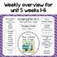 Reading Street Refrigerator Copy Unit 5 Weeks 1-6