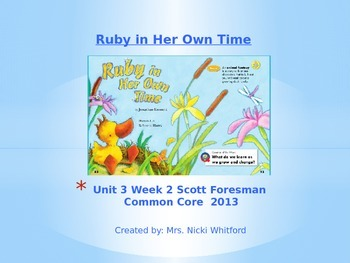 """Reading Street """"Ruby in Her Own Time"""" Weekly PowerPoint"""