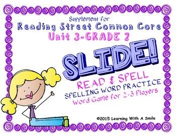 Reading Street SECOND GRADE SPELLING Unit 3 Word Game: SLI