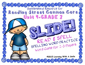 Reading Street SECOND GRADE SPELLING Unit 4 Word Game: SLI