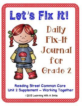 Reading Street SECOND GRADE (Unit 2) FIX-IT JOURNALS: Let'