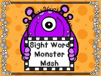 Sight Word Monster Mash - Reading Street aligned