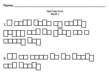 Reading Street Spelling Tests BUNDLE!! (Embedded Sentences
