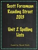 Reading Street Spelling Unit 2
