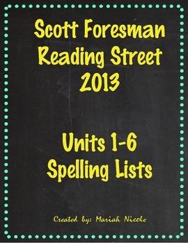 Reading Street Spelling Units 1-6