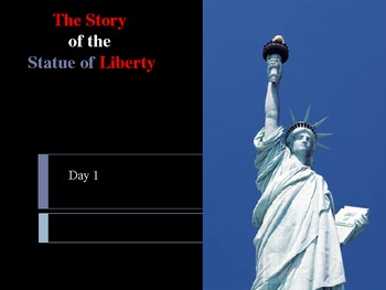 Reading Street: Statue of Liberty Day-1 Power Point  with