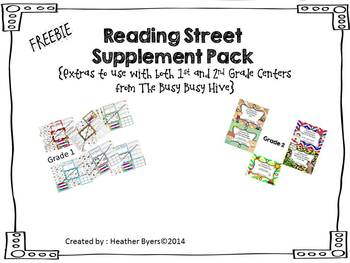Reading Street Supplement Pack for 1st & 2nd Gr centers