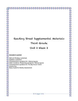 Reading Street Supplemental Materials Grade 3 Unit 2 Week 2