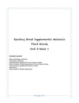 Reading Street Supplemental Materials Grade 3 Unit 3 Week 1
