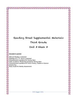 Reading Street Supplemental Materials Grade 3 Unit 3 Week 3