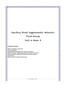 Reading Street Supplemental Materials Grade 3 Unit 4 Week 3