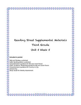 Reading Street Supplemental Materials Grade 3 Unit 5 Week 5