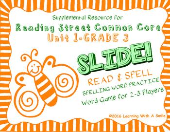 Reading Street THIRD GRADE SPELLING/CHALLENGE  U1 Word Gam