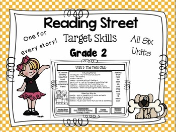 Reading Street  Target Skills Focus Wall for All Six Units