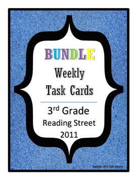 Reading Street Task Cards Bundle: All Units, 3rd Grade 201