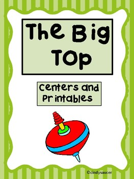 Reading Street,  The Big Top,  Centers and Printables For