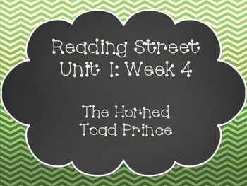 Reading Street: The Horned Toad Prince Posters & Activities