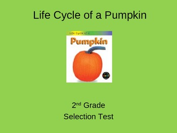 """Reading Street """"The Life Cycle of a Pumpkin"""" Selection Tes"""