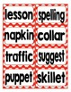 Reading Street Third Grade Spelling Word Cards (Red)