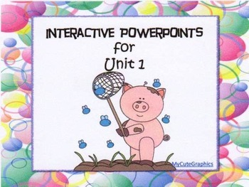 1st Grade Interactive PowerPoints, Unit 1, Reading Street