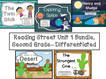 Reading Street Unit 1 Second Grade Bundle--Differentiated