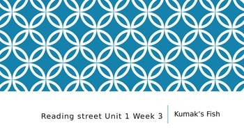 Reading Street Unit 1 Week 3 Kumak's Fish ppt.