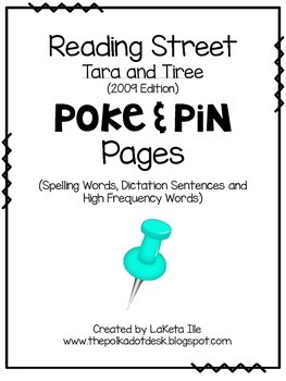 Reading Street Unit 2.1  Poke and Pin Pages
