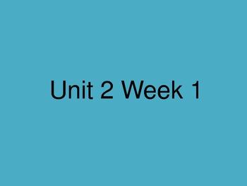 Reading Street Unit 2 Week 1