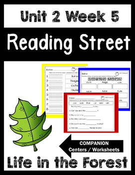 Reading Street.Unit 2 Week 5. Life in the Forest! Centers/