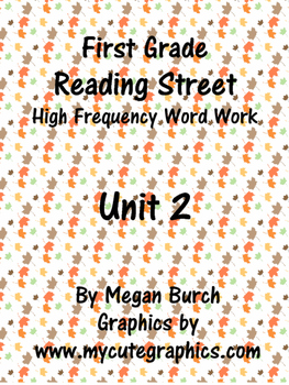 Reading Street Unit 2 Word Work