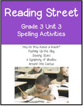 Reading Street  Spelling Unit 3 Grade 3