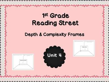 Reading Street Unit 4 Depth & Complexity Frames for 1st Grade