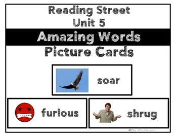 Reading Street Unit 5 Amazing Words Picture Cards- 1st Grade