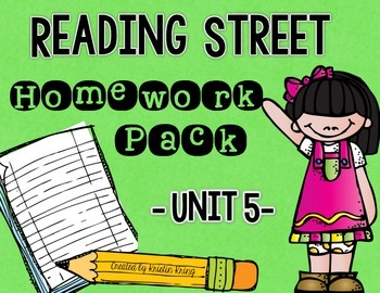 Reading Street Unit 5 Daily Homework