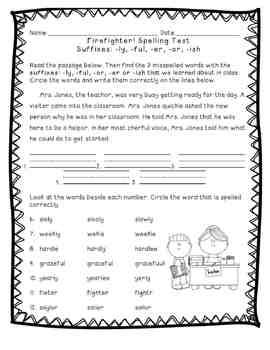 Reading Street: Unit 5 - Firefighter! Spelling Word Blocks