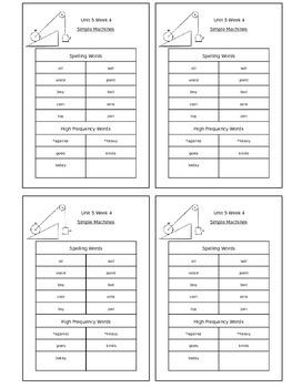 Reading Street Unit 5 Week 4 Spelling Packet
